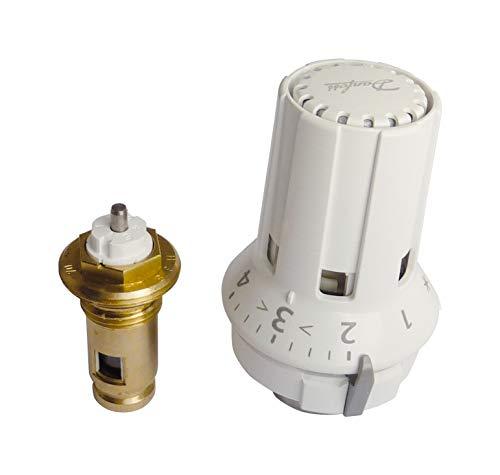 Danfoss Thermostat-Komplett-Set, Fühlerelement RAW-K 5030 mit Mebasa Ventileinsatz, für Ventilheizkörper, mit Frostschutzeinstellung, Einbaulänge 40 mm, Weiß, 27205 6