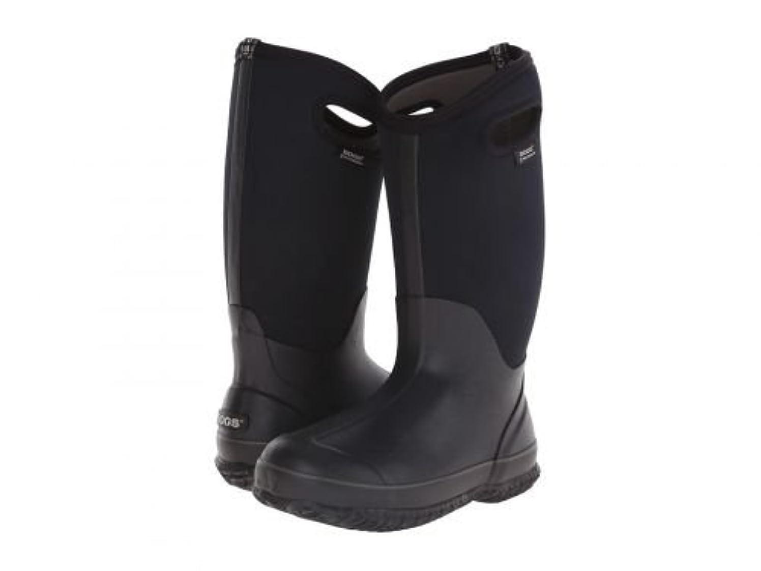 絶望視線鉄道Bogs(ボグス) レディース 女性用 シューズ 靴 ブーツ スノーブーツ Classic High Handles - Black 6 D - Wide [並行輸入品]
