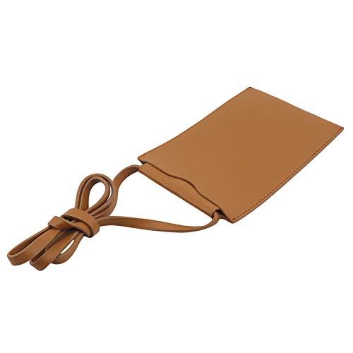 Zoomne - Bolso bandolera para mujer, tamaño pequeño, para teléfono celular, tarjeta de crédito, Amarillo (Amarillo) - Zoomne