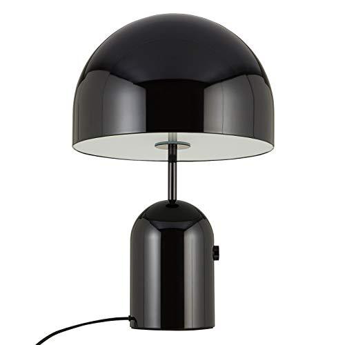 Bell tafellamp L, zwart gelakt H 60 cm Ø40 cm kabel zwart
