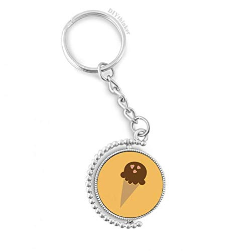 DIYthinker Erdnuss Praline Eiscreme Drehbare Schlüsselanhänger Ringe 1.2 Zoll x 3.5 Zoll Mehrfarbig