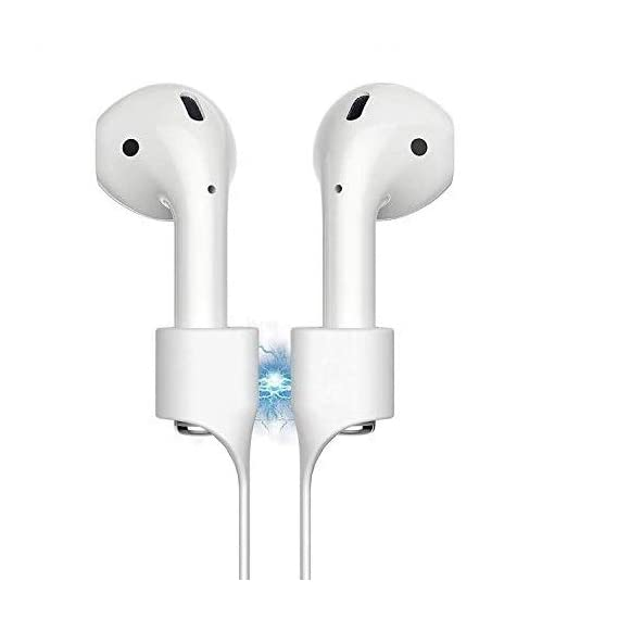 GadgetBite Anti-Lost Magnetic Strap Silicone Cable String for Apple Wireless Earphones 1   Apple Wireless Earphones 2   Apple Wireless Earphones Pro - White