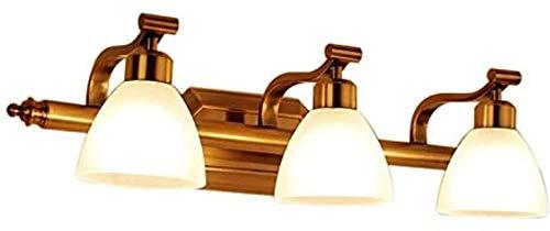 DFR-lumb Luces de Pared industriales, Lámpara de Pared Vintage de vanidad Ligera para baño, Acabado de Hierro Chapado con Sombra de Vidrio escarchado Lámparas de Pared