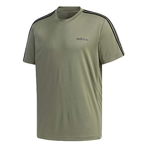 adidas M D2m 3s Tee Herren-T-Shirt XL Verleg/Schwarz