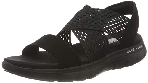 Skechers Damen FLEX APPEAL 2.0 COOL CITY Sandale, BBK, 39 EU