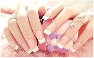 TBOP FAKE NAIL easy quick nail art polish set of 24pcs in pink and white color