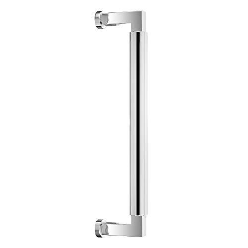 Stoßgriff für Haustüren Bauhaus | Edelstahl poliert | zur einseitigen Befestigung | Lochabstand: 350 mm