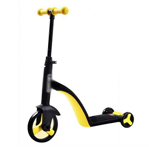 SZNWJ Ygqtbc Scooter- Plegable de Altura Ajustable Fácil Volviendo Scooter de Rueda for niños Niños Muchachas Que Destella (Color : Yellow)