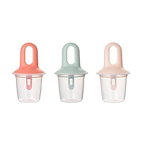 WOHCO Set di 3 stampi a ghiacciolo, Stampo in plastica Popsicle, Gelato al Produttore Riutilizzabile, Perfetto per i più Piccoli