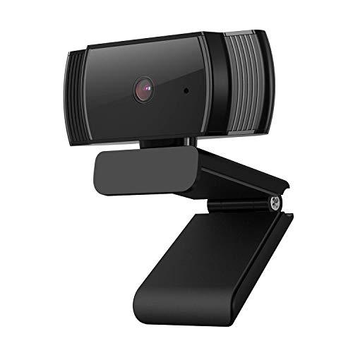 NBWS HD 1080P Webcam, AF925 USB Computer Laptop Camera con Autofokus, Completo 360-Grad-Schwenkradius, Geräuschreduzierung-Mikrofone, zusammenklappbarem