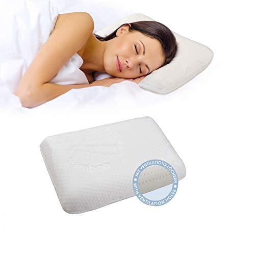 daydream Memory Foam Kopfkissen – EIN atmungsaktives und ergonomisches Nackenkissen inkl. Kissenbezug (40x25x10 cm, P-10200)