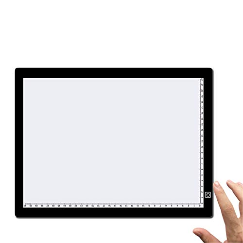 BGROESTWB Tablero de Dibujo Tabla de Copia, Tablero de Dibujo de animación, Herramienta de mapeo de transmisión de luz, Mesa de Copia Ultrafina A3 con Escala para Artistas Dibujando