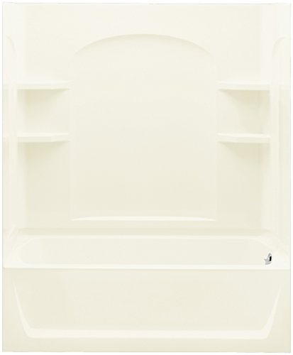Ensemble Bath and Shower Kit, 60-Inch x 32-Inch x 74-Inch, Right-Hand, Biscuit - Sterling 71220120-96