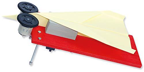 matches21 Papierflieger Abschussanlage Abschussrampe als Holz / Elektronik Bausatz f. Kinder Werkset Bastelset ab 12 Jahren