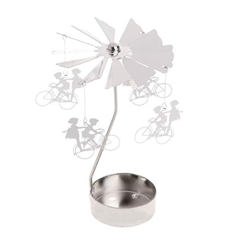 NMKL Lamp 10 Stijlen Rotary Spinning Tealight Kaars Metalen Houder carrousel Home Decor Geschenken Kaars Houders Lantaarn