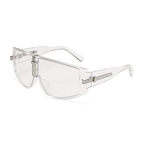 Gafas de Sol Gafas De Sol Steampunk De Lujo para Mujer, Gafas De Sol para Hombre, Monturas Grandes De Moda, Lentes Transparentes, Sombras Uv400 C4