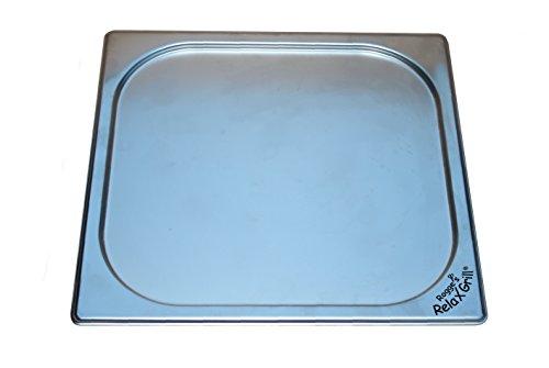 Rogge´s RelaxGrill Deckel aus Edelstahl Einbaugrill für Gartentisch und Außenküche