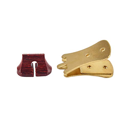BESPORTBLE Erhu stumm Geige stumm Schalldämpfer professionell Erhu Armaturen Erhu Sourdine Werkzeuge mit Brücke (Golden)