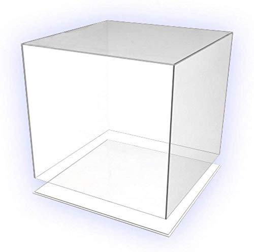 HOKU Holzhäuser Kunststofftechnik Präsentationsbox. Acryl-Glas Box 30-cm x 30-cm x 30-cm mit Boden/Deckel Würfel, Acryl/Plexiglas, 5 transparente Seiten, farblos