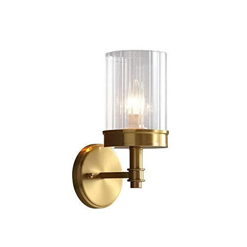 LSSB Lámpara de Pared de la Pared del Dormitorio de la lámpara, del Cobre del Estilo Dormitorio del Fondo de Noche Escaleras Sala de Estar Lámpara de Pared Espejo de baño Faros de luz Decorativos for
