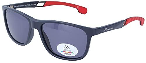 montana occhiali sole Montana Eyewear Occhiali da sole sportivi SP315 in plastica opaca e stanghette gommate blu scuro