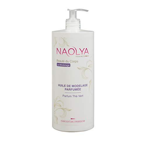 Naolya Huile de Modelage Parfumée Thé Vert - flacon 1L