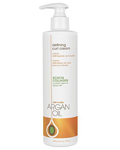 One 'n Only Defining Curl Cream with Argan Oil, Leave-in Conditioning Cream, Defines and Leaves Strong Curly Hair, Enhances Shine and Hydrates Without Sticky Residue, 9.8 Ounces