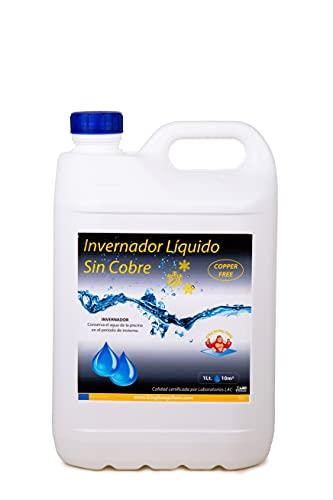 INVERNADOR LÍQUIDO SIN Cobre 5 litros - Desinfectante y Algicida para el Tratamiento de Piscinas en Invierno - Apto Piscinas Liner