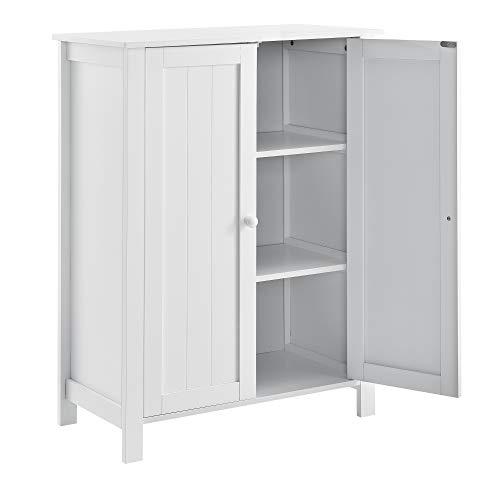 [en.casa] Badkamerkast met 3 vakken en deuren
