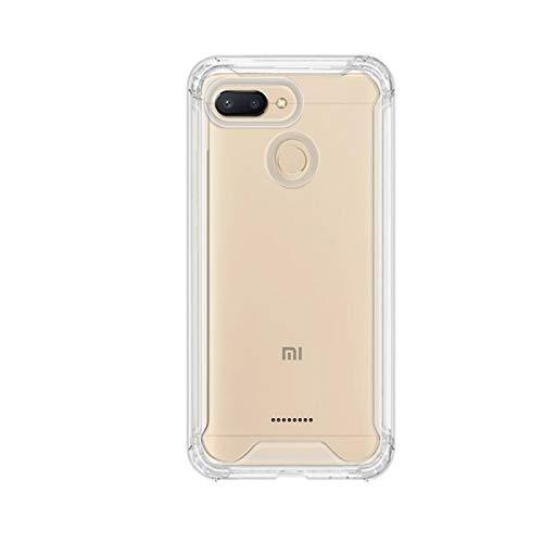 "TBOC Funda para Xiaomi Redmi 6 - Redmi 6A [5.45""] Carcasa [Transparente] Protección Extrema a Caídas [Antigolpes] Bumper [Bordes Reforzados] Resistente [Protege la Cámara] Móvil"