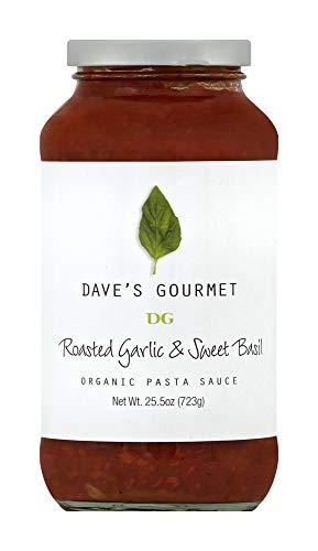 Dave's Gourmet Pasta Sauce, Organic Roasted Garlic and Sweet Basil, 25.5 oz