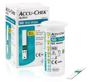 ACCU CHEK Active 50 Test Strips 1 Box Sealed EXP. DATE : 05/2015