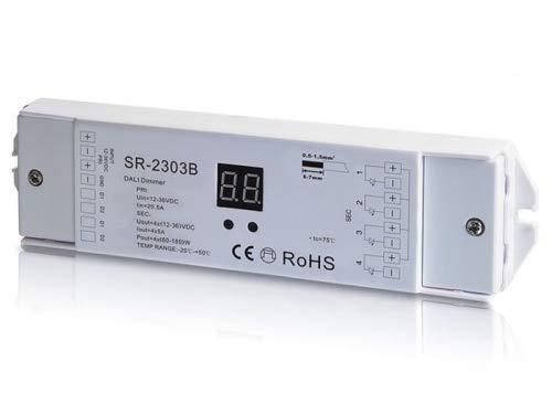 YULED SR-2303B DALI LED Controller 4-Kanal 4x5A max. 20A Adresse einstellbar 12-36V R-G-B-W für LED Streifen