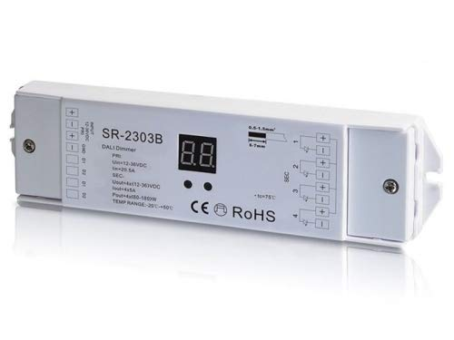 YULED DALI LED Controller 4-Kanal 4x5A 12-36V R-G-B-W