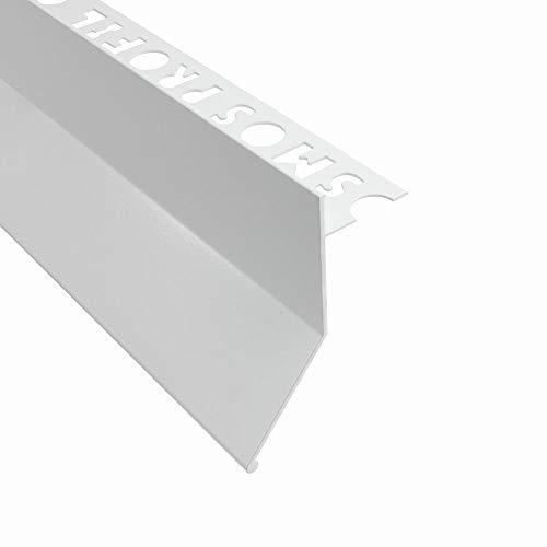 Alu L-Profil Balkon Terrasse abtropf Fliesenschiene Profil Schiene L300cm 10mm weiss