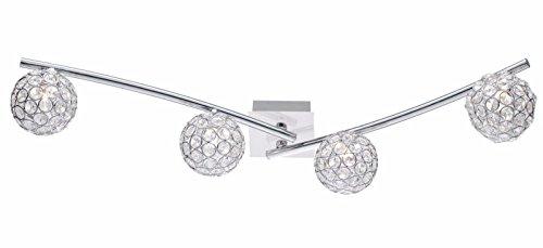 Obi 804712 Deckenleuchte Deckenlampe Deckenstrahler Lampe Leuchte Glaskristalle