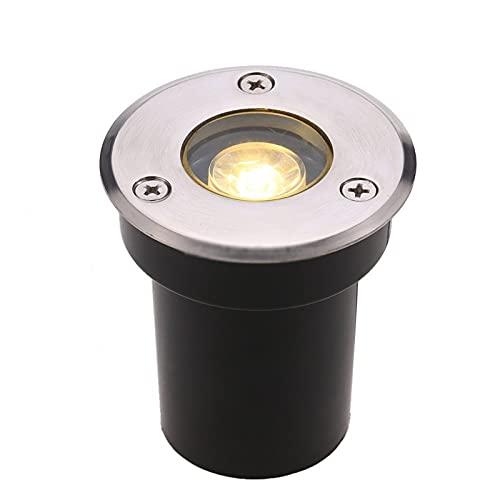 BDSHL Luci per vialetti Impermeabili IP67 a Luce sotterranea a LED da 1 W, Luce Bianca Calda/Luce Bianca da Incasso a Terra (Color : Warm White Light, Size : 24v)