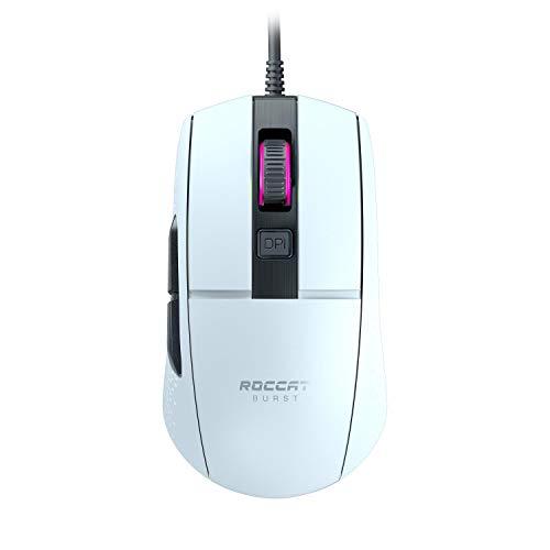 Roccat Burst - Extrem leichte Optical Core Gaming Maus (hohe Präzision, Optiksensor 8.500 Dpi, 68g leicht, Designt in Deutschland), weiß
