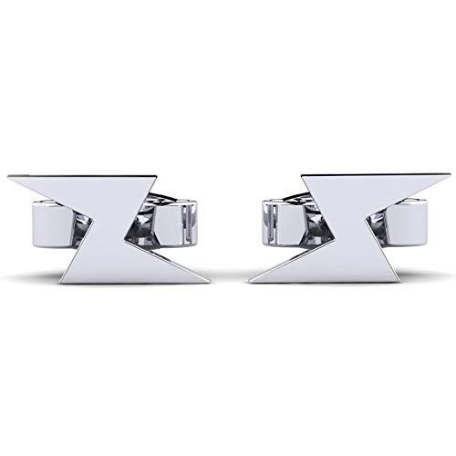 Moncoeur Damen Ohrringe Mertie aus 925er Sterling Silber - modern und im Trend der Zeit - Silber Ohrstecker als schönes Geschenk für die Frau, Freundin oder Mutter + Premium Markenschmuck + Luxusetui