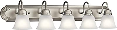 Kichler 5339NIS Vanity, 5-Light 500 Total Watts, Brushed Nickel