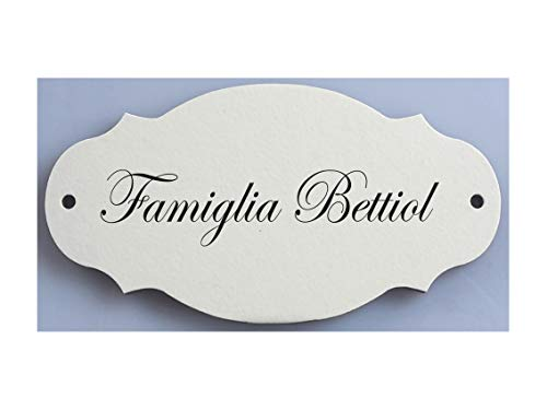Mosaici Guizzo Targa in Ceramica incisa con Fori_Colore Bianco Latte