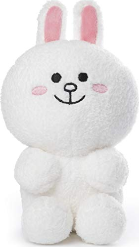 "GUND Line Friends Cony Seated Plush Stuffed Animal Rabbit, White, 7"", Multicolor"
