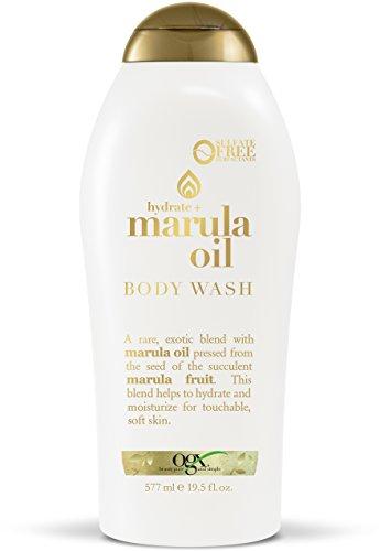 OGX Marula Oil Body Wash Moisturizing Body Wash Formulated for Dry Skin, Oily Skin, Normal Skin, Combination Skin with Marula Oil Silicone Free, 19.5 Fl Oz