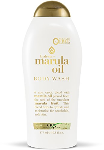 OGX Marula Oil Body Wash 19.5 Fl Oz Moisturizing Body Wash Formulated for Dry Skin Oily Skin Normal Skin Combination Skin, with Marula Oil, Silicone Free