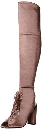 Guess Calene Overknee-Stiefel für Damen, Pink (Heller, natürlicher Satin), 39.5 EU