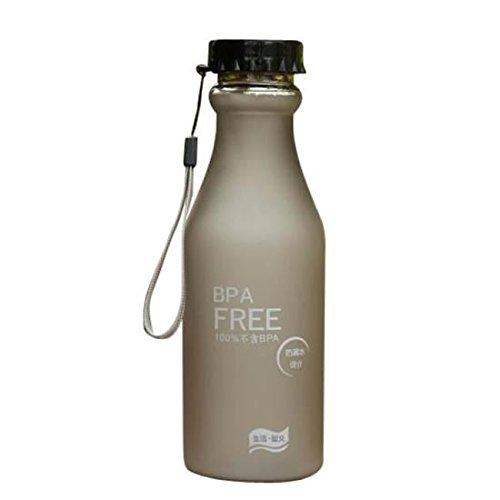 Rony Rass - Botella Deportiva (550 ml, plástico ecológico, Reutilizable con BPA, para niños, Deportes, Yoga, Gimnasio, Oficina, Senderismo, Botellas de Viaje herméticas)