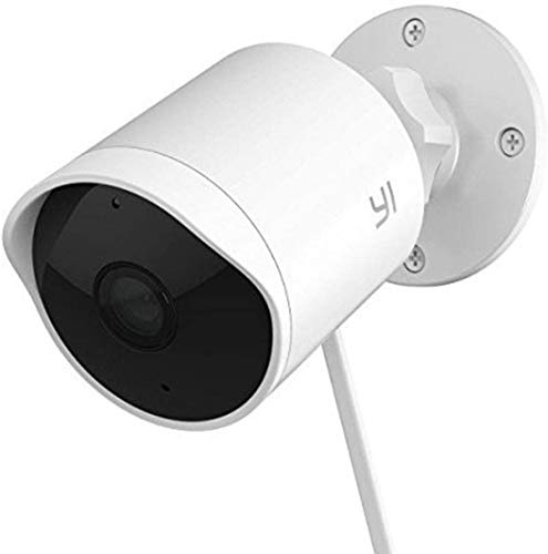 YI Outdoor Security Camera with 6-Month Cloud Service, 1080p Cloud Cam IP Waterproof Night Vision Surveillance System with 24/7 Emergency Response, Alert, Alarm, Phone App, Compatible with Alexa