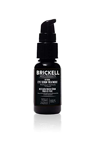 31Cohhc46fL - Brickell Men's Restoring Eye Serum Treatment for Men, Natural and Organic Eye Serum to Firm Wrinkles, Reduce Dark Circles, and Promote Youthful Skin, 0.65 Ounce, Unscented