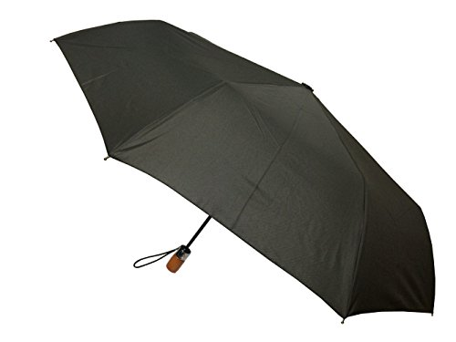 London Fog Auto Open Close Umbrella, Black