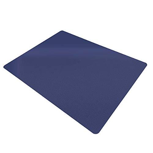 Certeo Tappetino salvapavimento   120 x 150 cm   PP   Pavimenti o moquette   blu   Tappetino sotto sedia Tappetino sotto sedia da ufficio   Protezione per pavimento   Tappetino protettivo